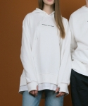 리우(LIEU) Layered Hood [WHITE]