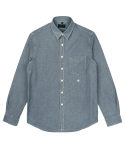 콰이트(QUITE) [콰이트] Light Oz Washed Denim Shirt