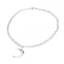 MOON SILVER CHAIN NECKLACE