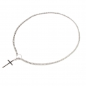 CROSS TOGGLE SILVER CHAIN NECKLACE(6MM)