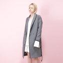 와드로브(WARDROBE) GOWN TRENCH COAT_GRAY