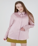 WIDE CUFFS SILK SHIRT - PINK