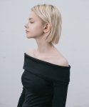 라티젠(LARTIGENT) LI OFF SHOULDER_BK