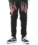 아임낫어휴먼비잉(I AM NOT A HUMAN BEING) SAMO Logo Pants - Black