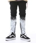 아임낫어휴먼비잉(I AM NOT A HUMAN BEING) Flame Painted Pants - Black