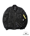 그랜드비전(GRANDVISION) GRAND VISION HEAVY NYLON JACQUARD MA-1 JACKET 3M (BLACK)