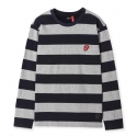 브라바도(BRAVADO) [Bravado] THE ROLLING STONES STRIPE BORDER T-SHIRTS NAVY
