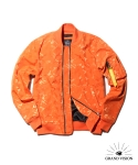 그랜드비전(GRANDVISION) GRAND VISION HEAVY NYLON JACQUARD MA-1 JACKET 3M (ORANGE)