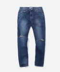 블루야드(BLUE YARD) SLIM FIT DAMAGE JEANS - MIDDLE AGE