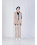 STITCH SINGLE JACKET (BEIGE)