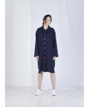 메리먼트(MERRIMENT) TWEED LONG JACKET (NAVY)
