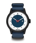 하이퍼그랜드(HYPERGRAND) Meverick Black Blue - Blue Leather Nato