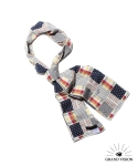 그랜드비전(GRANDVISION) GRAND VISION SCARF - DOT & CHECK (NAVY)