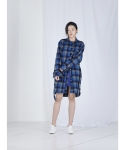 메리먼트(MERRIMENT) LONG BELT SHIRTS (BLUE CHECK)