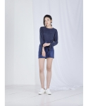 메리먼트(MERRIMENT) CUFFS SLIT T (NAVY)
