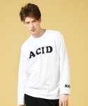 슬로우애시드(SLOW ACID) [UNISEX] Acid Long Sleeve T-shirt(White)