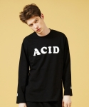 슬로우애시드(SLOW ACID) [UNISEX] Acid Long Sleeve T-shirt(Black)