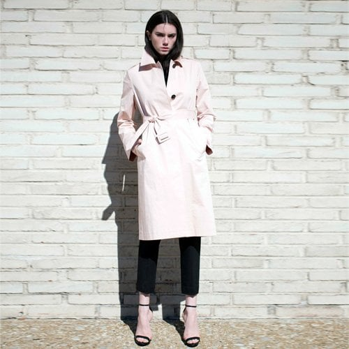 룩캐스트_LOOKAST PINK H-LINE TRENCH COAT