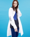 바니앤블랜치(BONNIE&BLANCHE) CAUTION MARK JACKET_WHITE