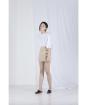 메리먼트(MERRIMENT) DOUBLE BUTTONHOLE SKIRT (BEIGE)