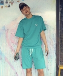VDV DOLMEN SWEAT SHORTS (MINT)