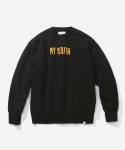 블루야드(BLUE YARD) MY YOUTH CREWNECK BLACK