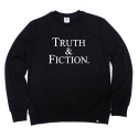 비쿨(BE COOL) TRUTH & FICTION Crewneck Black