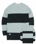 언커먼 팩터스(uncommonfactors) COLORBLOCK SPLIT HEM SWEATSHIRT
