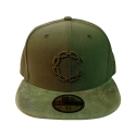 크룩스앤캐슬(CROOKS & CASTLES) CROOKS & CASTLES Mens Woven Fitted Cap - Chain C Cord OLIVE