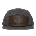 크룩스앤캐슬(CROOKS & CASTLES) CROOKS & CASTLES Mens Woven 5-Panel Cap - Serif GREY
