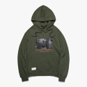 FOUNTAIN SWEAT HOODIE (OLIVE) OVER