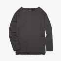 피피피(P.P.P) RAW OVER SWEAT SLEEVE TOP (CHARCOAL) OVER