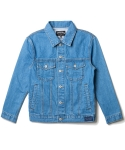 언터치드(untouched) SEMI OVERFIT DENIM JACKET SKY BLUE