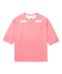 레이어 유니온(LAYER UNION) 3/4 SLEEVE COLOR CHANGING TEE PINK