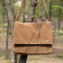 Wax Canvas Camel_Mail Bag