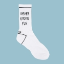 로너(LONER) [로너] [UNISEX]NEVER ENDING FUN-BLACK SOCKS