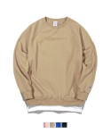 어커버(ACOVER) Layered Sweat Shirts Beige