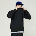 유니온로우(UNIONLOW) UNISEX BASIC LINE SWEATSHIRT BLACK