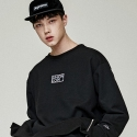 유니온로우(UNIONLOW) UNISEX OVER ZIP SWEATSHIRT BLACK