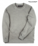 피스워커() Vintage sweat shirt side zipper - khaki Grey