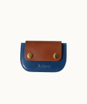AEIOU JOY / CARDHOLDER (LEATHER BLUE)