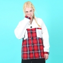[UNISEX]RED CHECK JACKET