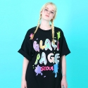 블랙페이지(BLACK PAGE) [UNISEX]PAINT LOGO T-SHIRTS
