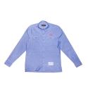 Loose Lips Button Up (Blue Corn)