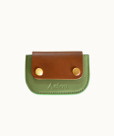 AEIOU JOY / CARDHOLDER (LEATHER ASPARAGUS GREEN)