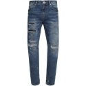 모디파이드(MODIFIED) M#0923 crush repaired crop jeans