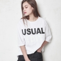 유주얼 에딧(USUAL EDIT) Usual Edit Tee_White