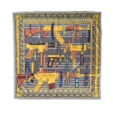 CROOKS & CASTLES Woven Scarf - Golden Arms (Gold Multi)