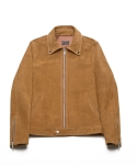CALFSKIN SUEDE SINGLE LEATHER JACKET