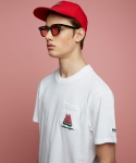 에픽소드(EPICSODE) WATERMELON TWINS POCKET ROUND-T(WHITE)